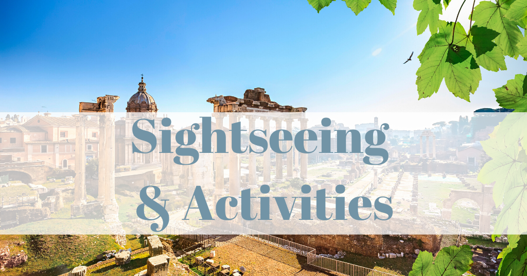 Sightseeing and activities